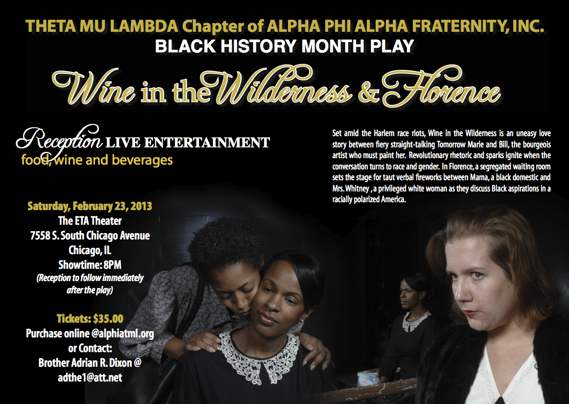 Theta Mu Lambda Black History Play - Wine in the Wilderness