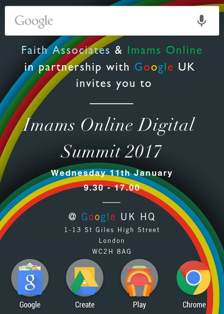Imams Online Digital Summit - Google HQ