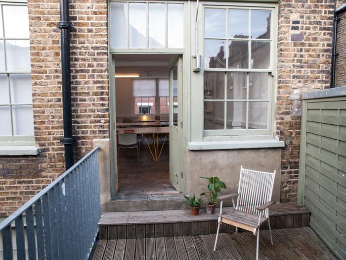 Winkley street studios balcony
