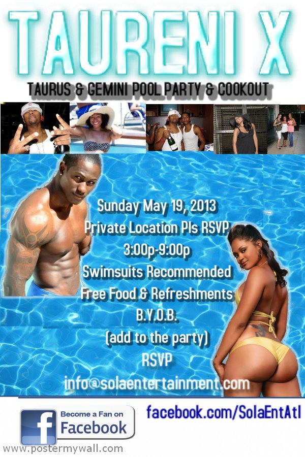 Sola Pool Party Taureni X