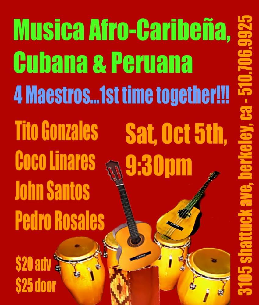 Música Afro-Caribeña, Cubana y Peruana