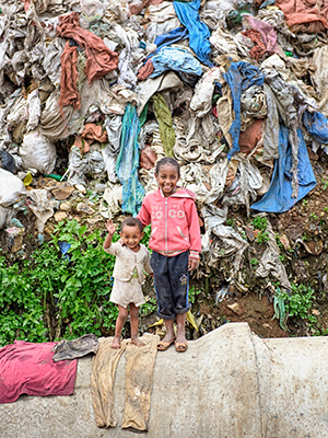 Children in Korah, Ethiopia
