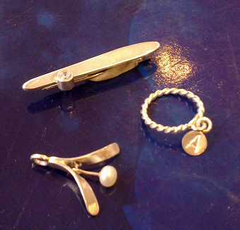 Silver Twisted Ring, Brooch and Pendant