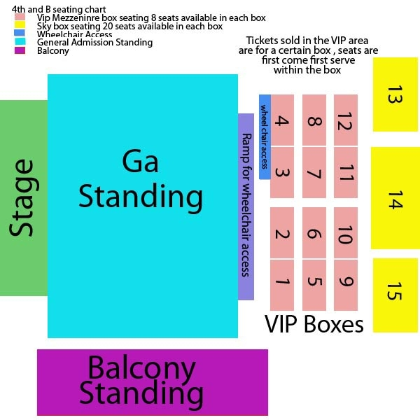 4th and B Seating Chart