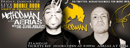 METHOD MAN W/ AERIAS & THE CLYDE PROJECT LIVE AT DOUBLE...