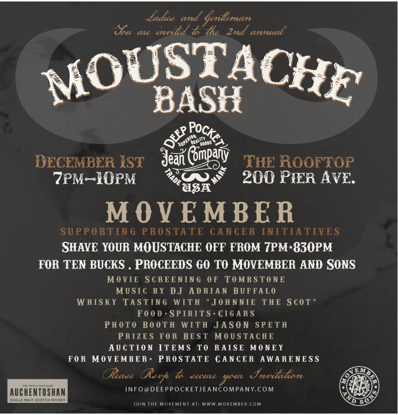 Moustache Bash Flyer