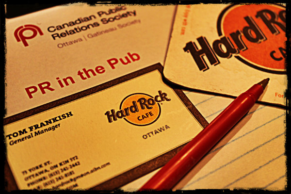 PR in the Pub event