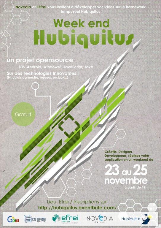 Affiche weekend Hubiquitus