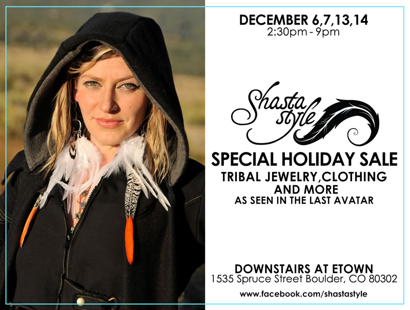 postcard for the Holiday Sale at The Cafe at eTown Hall, Dec 6, 7, 13, 14 2014, 2:30-9:00pm