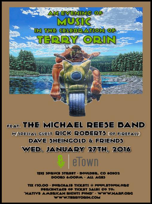 Terry Orin Memorial Concert Poster
