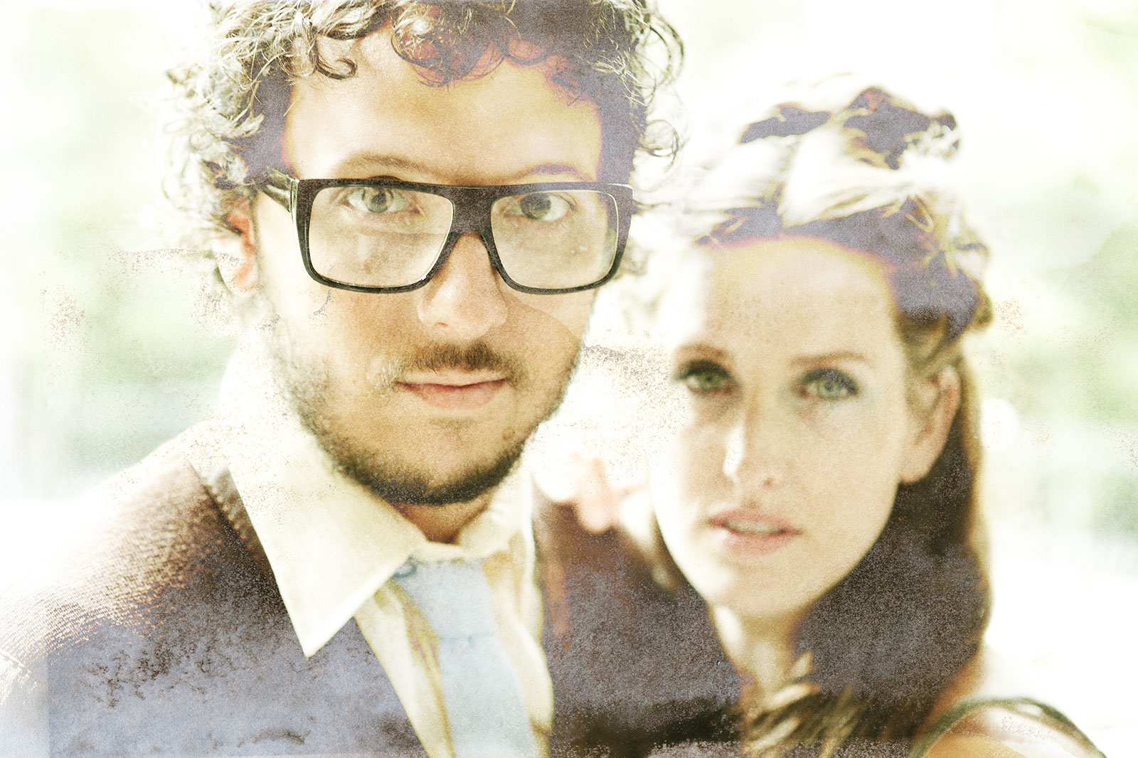 An image of Michael Gungor and his wife, Lisa, facing the camera