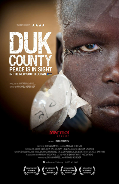 Film poster for Duk County by Jordan Campbell