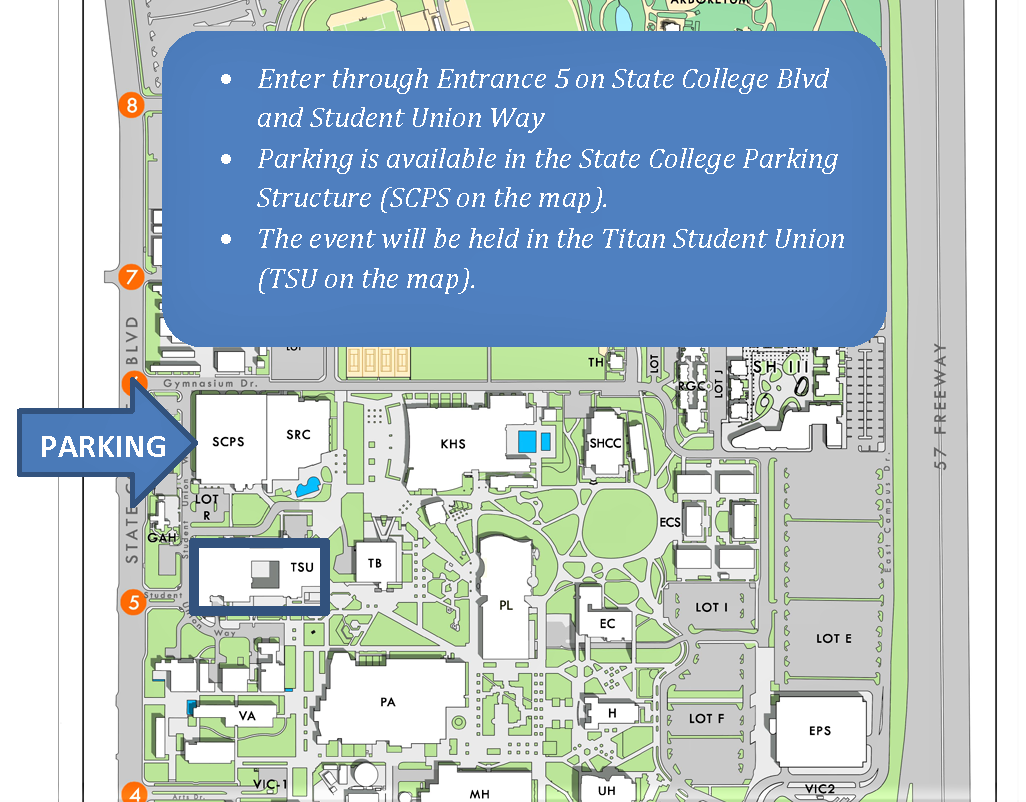 Speaker Lecture Series, Parking Instructions