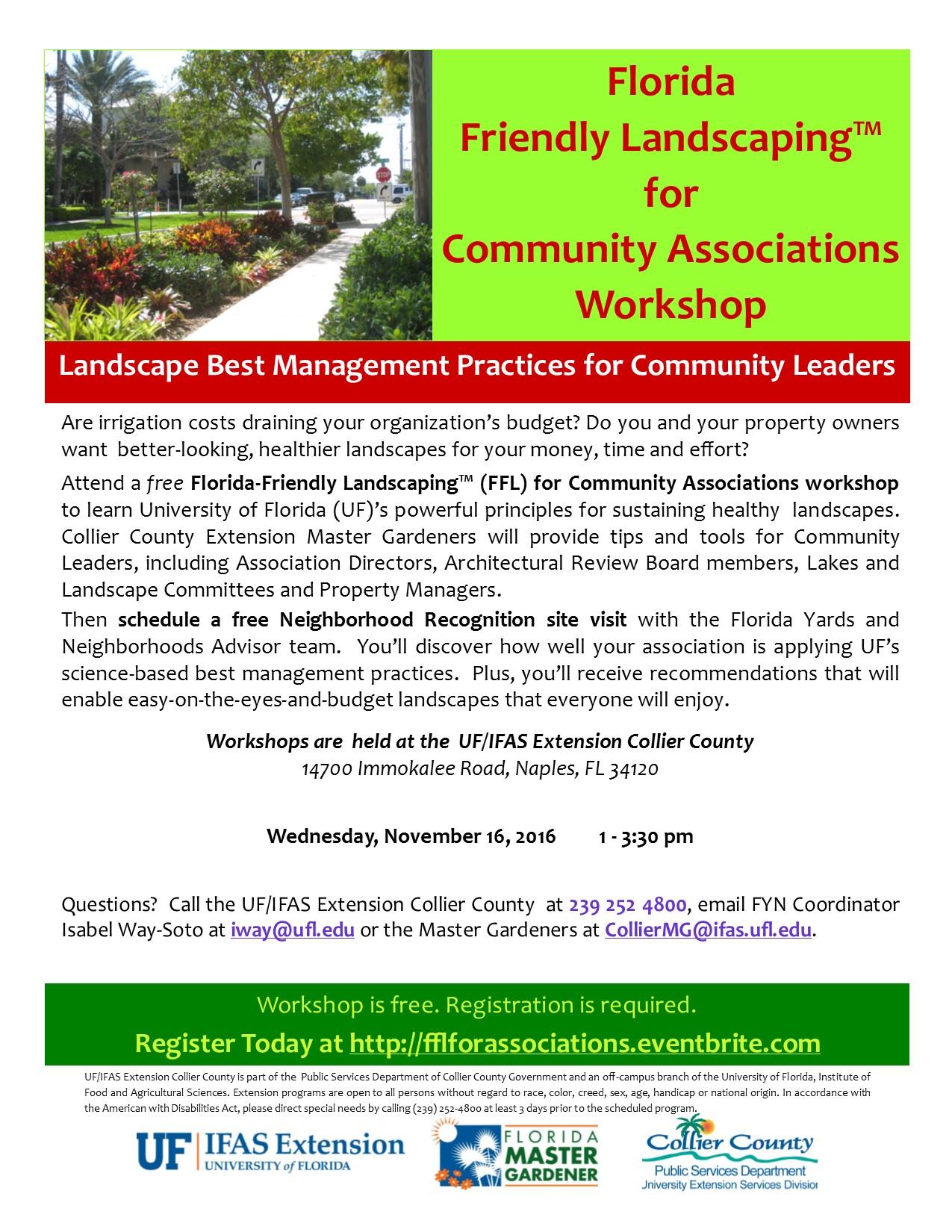 FFL For Associations calendar
