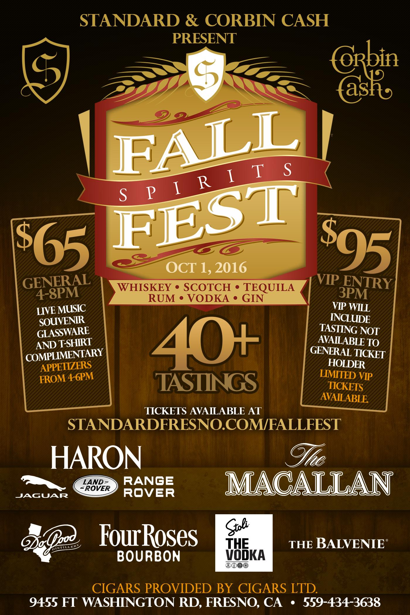 Fall Spirits Fest Tickets Sat Oct 1 2016 At 4 00 Pm Eventbrite
