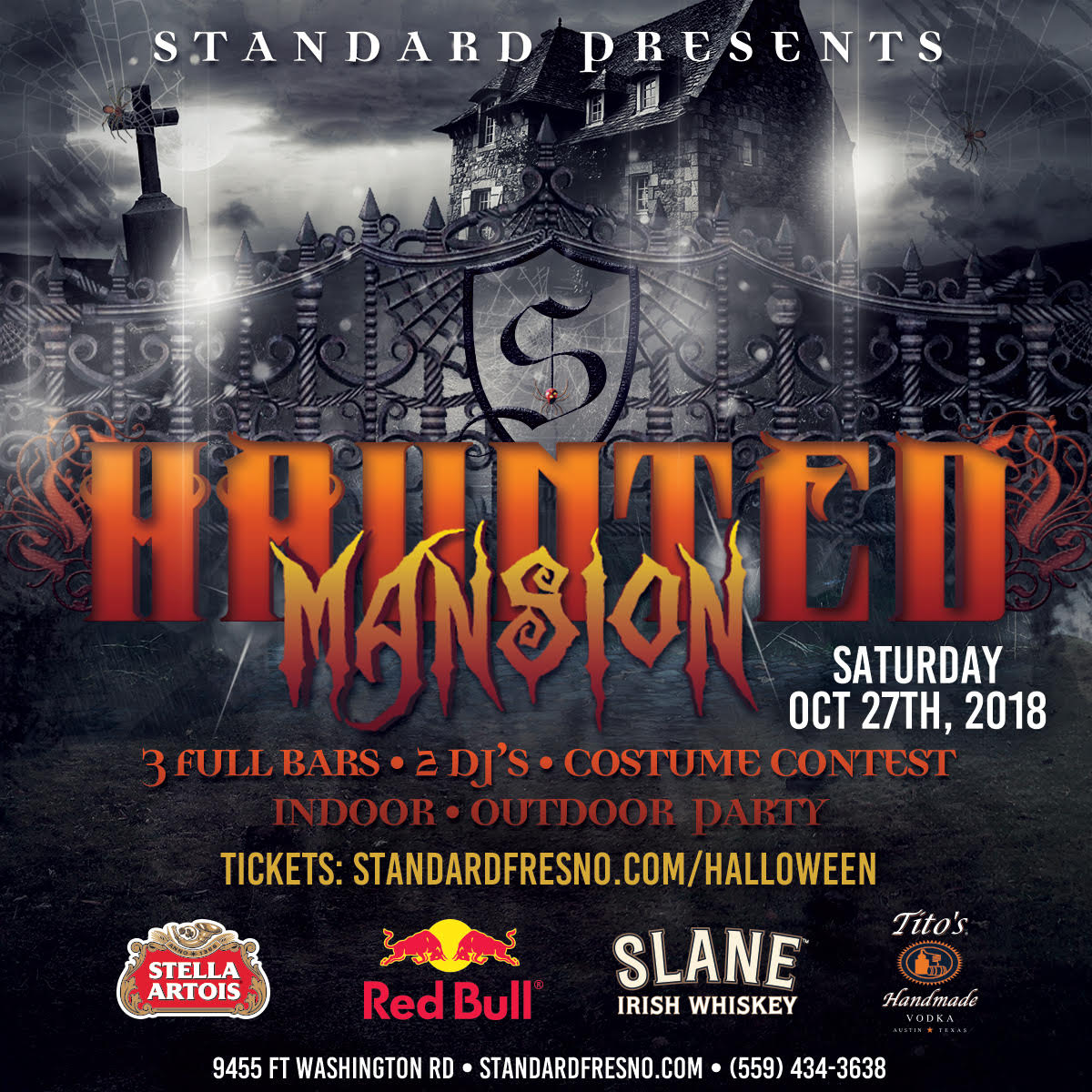 2018 fresno haunted mansion halloween party tickets, sat, oct 27
