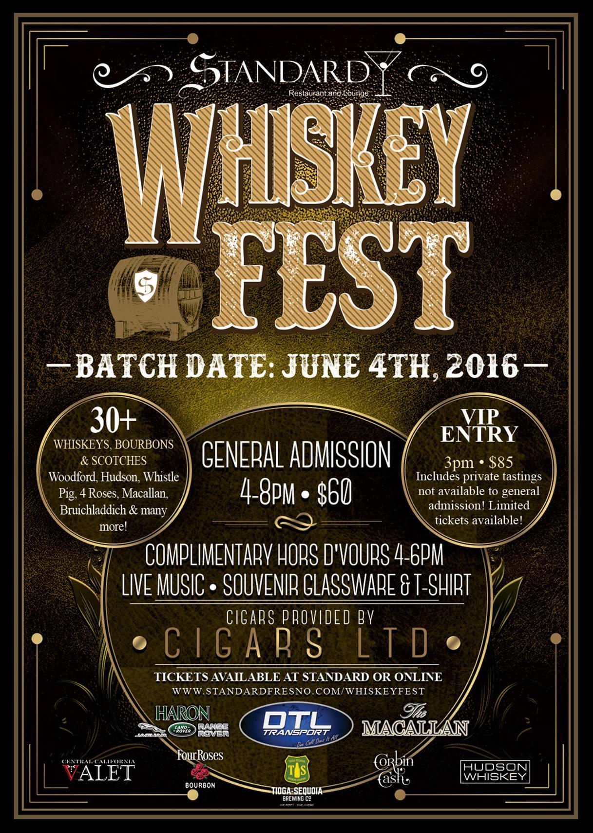 Fresno Whiskey Fest Tickets Sat Jun 4 2016 At 4 00 Pm
