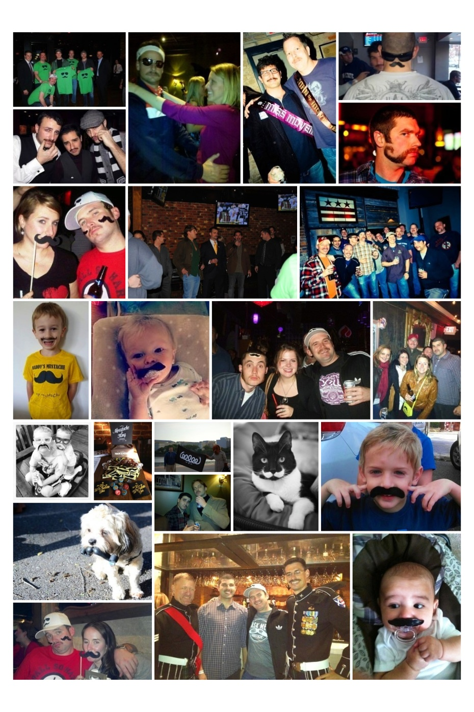 H St Movemberfest Collage