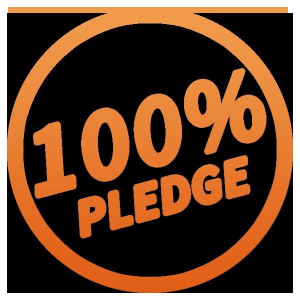 100% Pledge