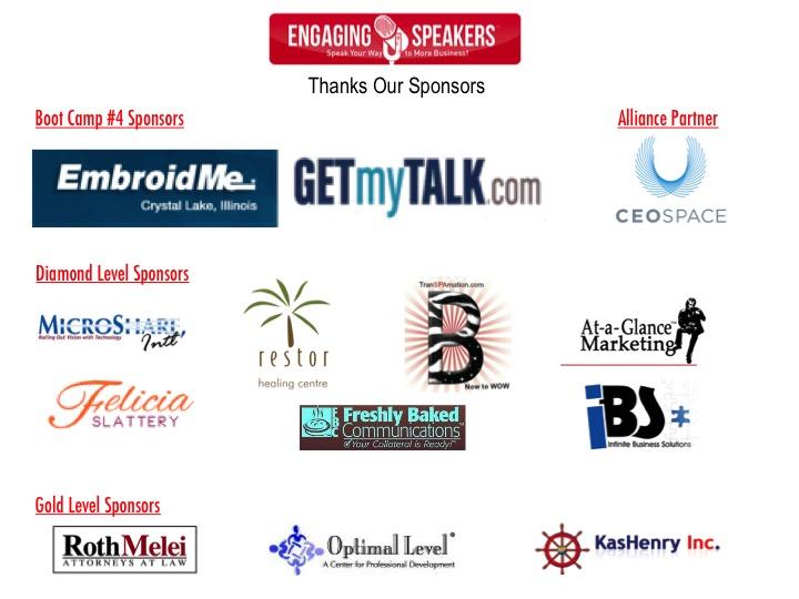 Engaging Speakers Sponsors