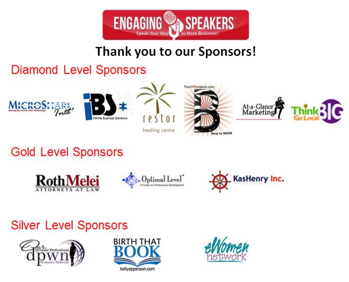 Engaging Speakers Sponsors