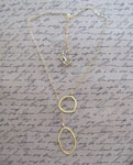 Gold, Lariat, Hoop, Fashionable, Necklace