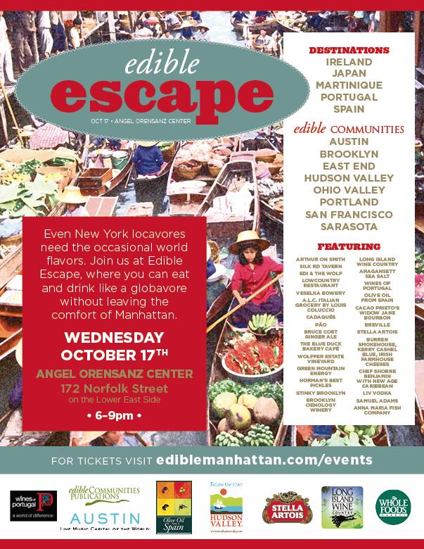 Edible Escape, October 17th