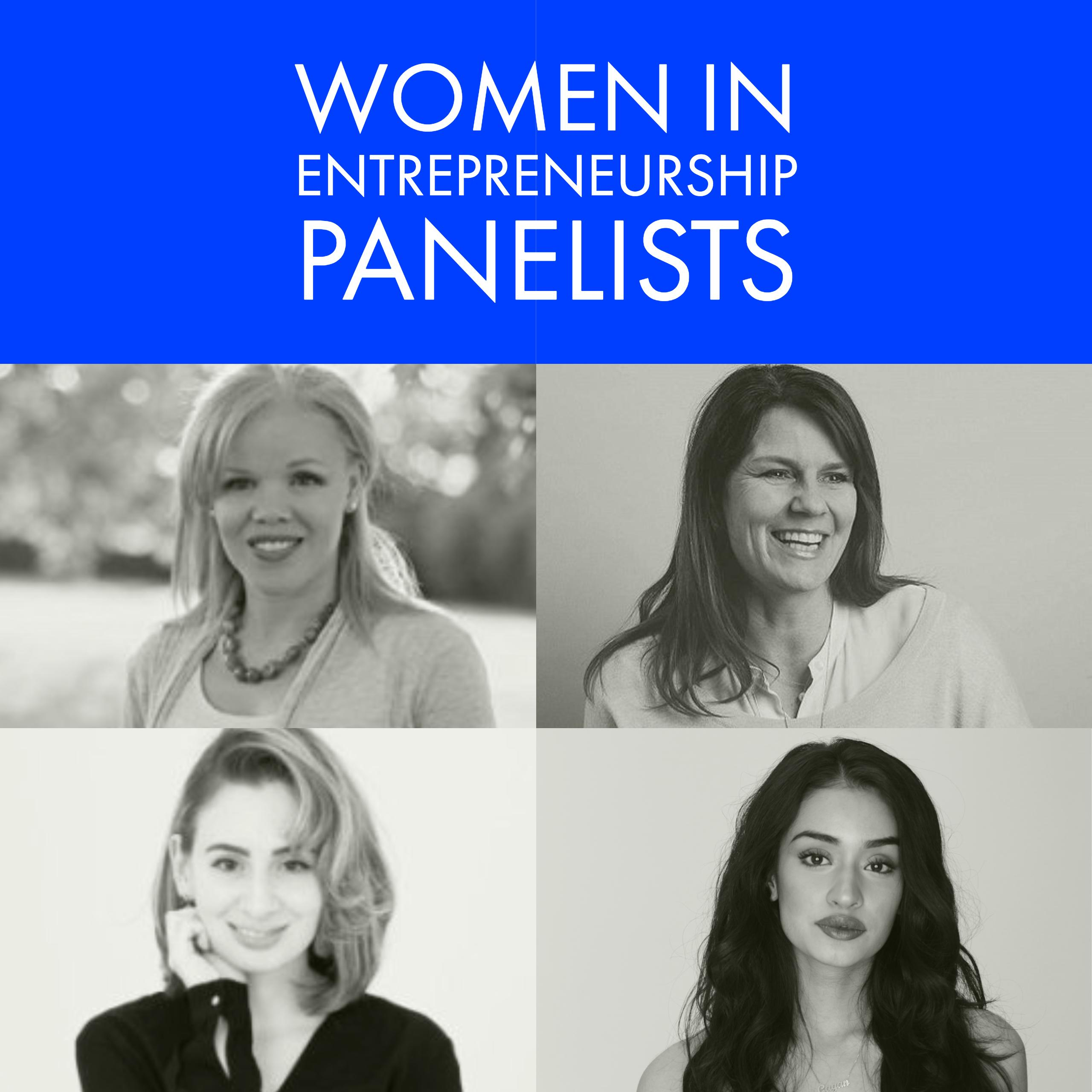 The panelists for Women in Entrepreneurship
