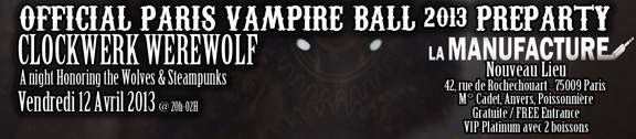 ParisVampireBall2013 Preparty Flyer