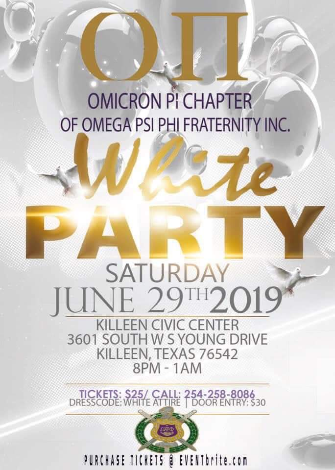 White Party; Omicron Pi Chapter of Omega Psi Phi INC