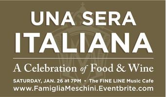 Una Sera Italiana: A Celebration of Food and Wine