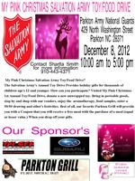 My Pink Christmas Salvation Toy/Food Drive