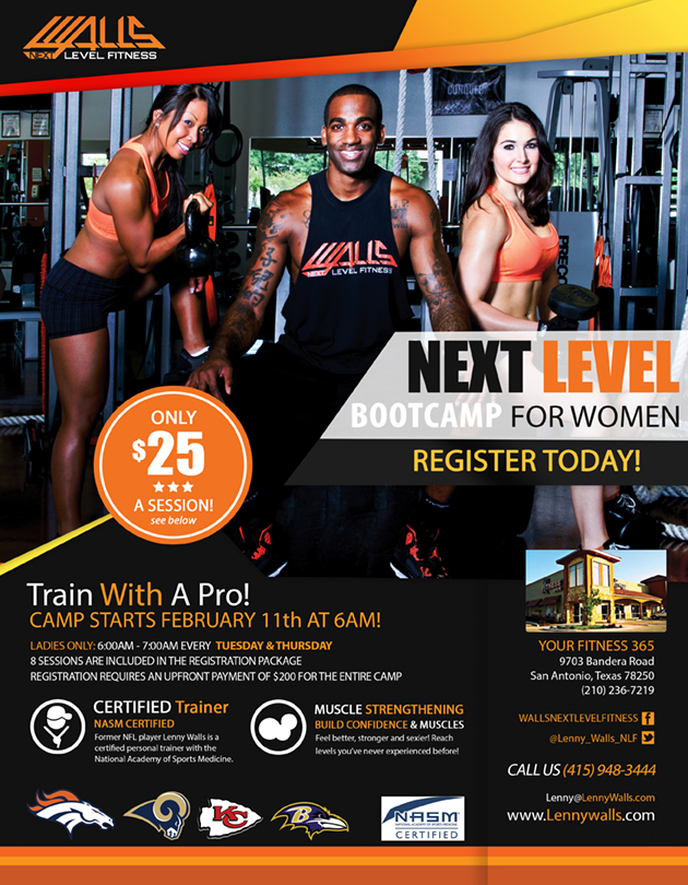 Walls Next Level Fitness - Boot Camp Flyer