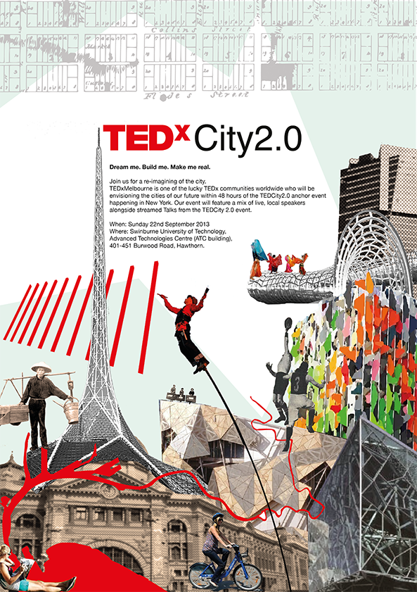 TEDxMelbourne TEDCity 2.0 Poster