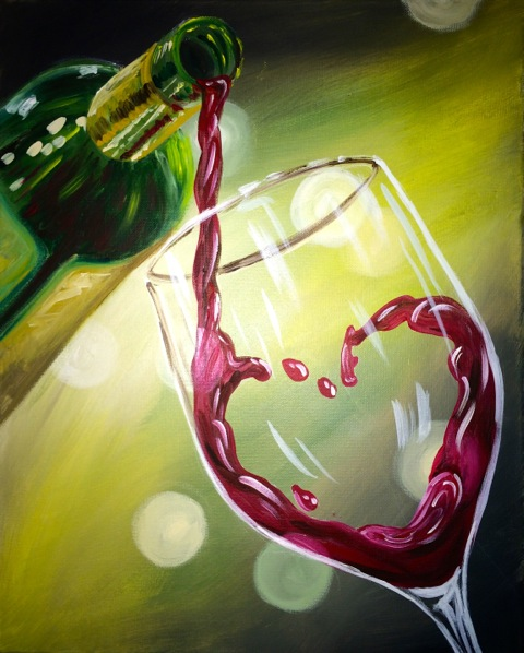 Two Wine Painting Acrylic Paint