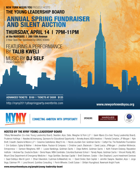 NYNY Spring Fund Raiser and Auction