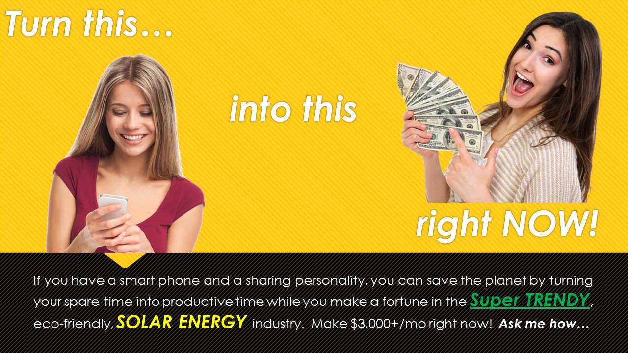 Make money in Solar using your Smartphone