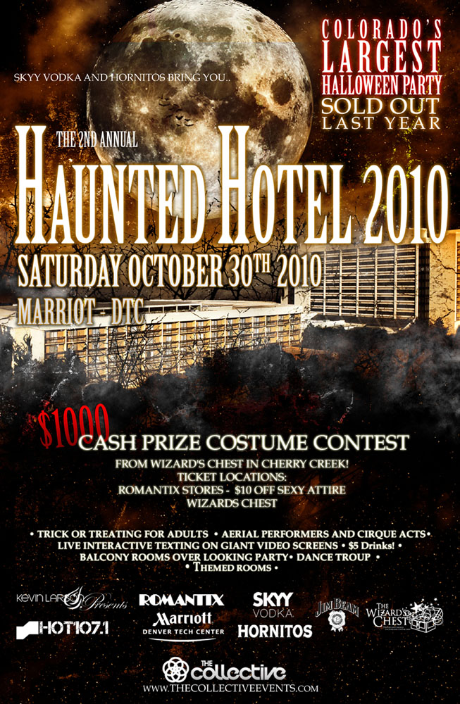 kevin larson presents haunted hotel halloween costume party