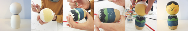 Process of making a Kokeshi doll