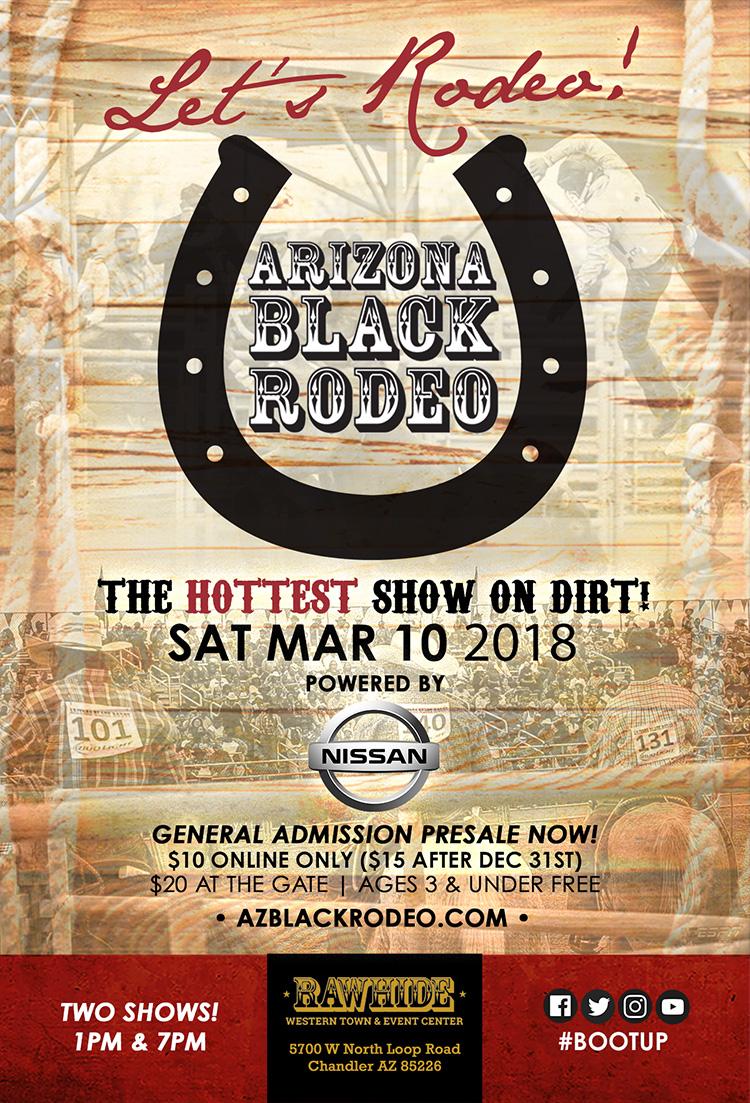 AZ Black Rodeo Presale Flyer