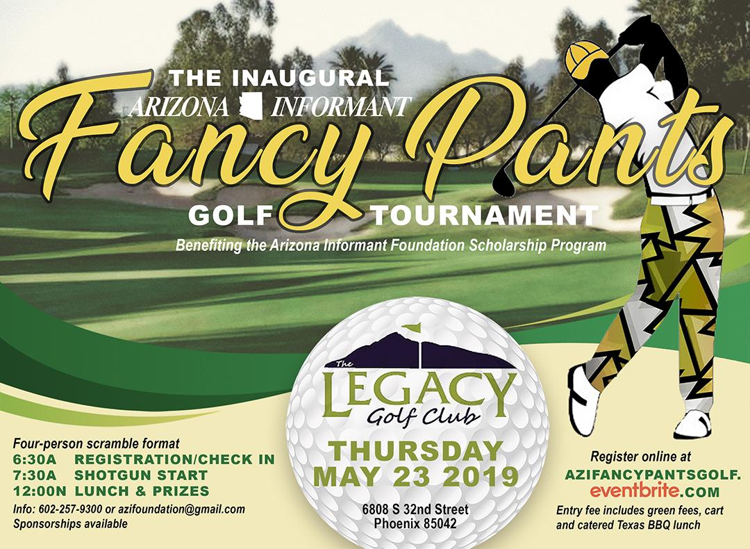 AZI Fancy Pants Golf flyer