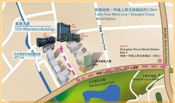 TUV location map