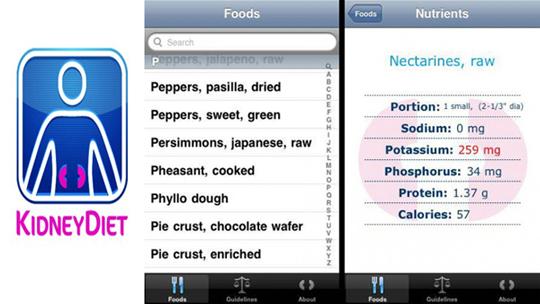 Screen Shot of KidneyDiet App