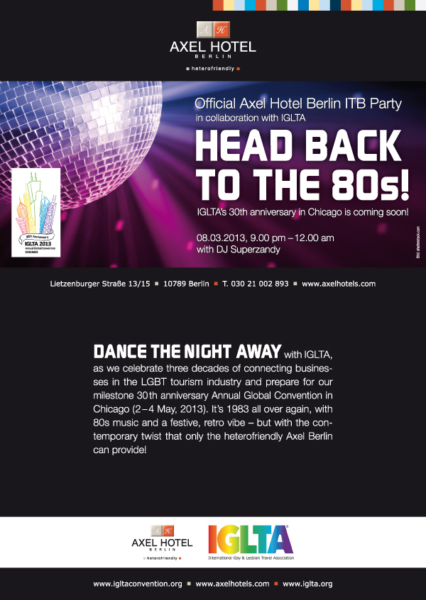 Head Back to the 80s with IGLTA and Axel Hotel
