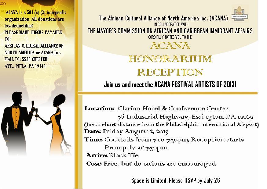 2013 Honorarium Reception