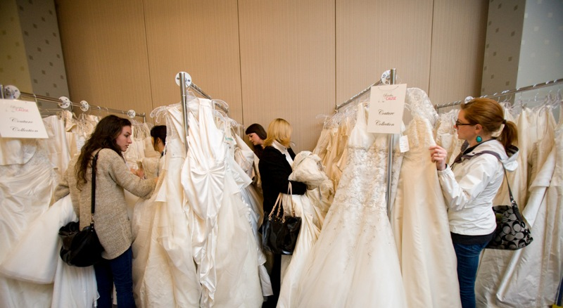 Volunteer brides for a cause wedding dress sale for Wedding dress cleaning seattle