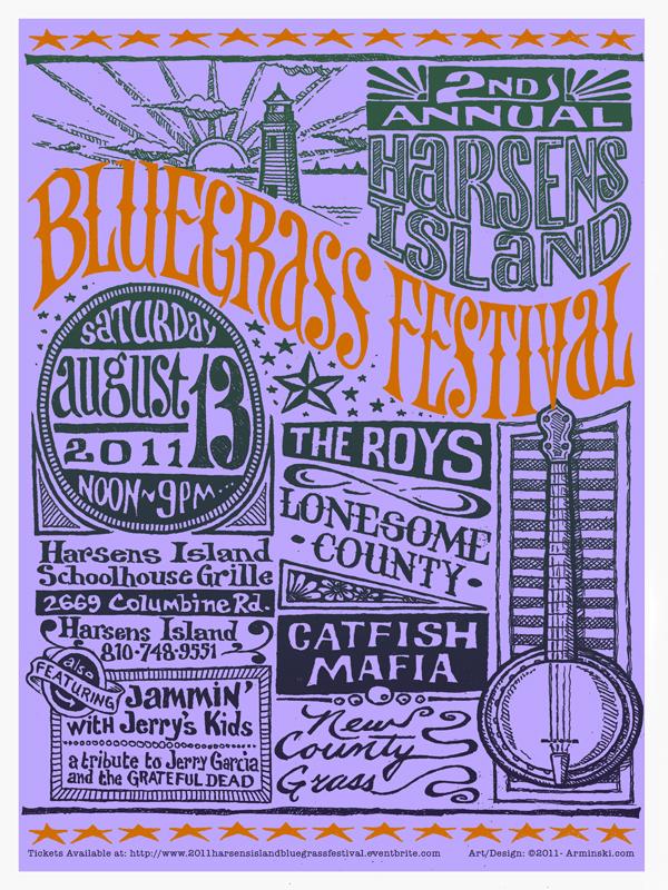 2011 Harsens Island Bluegrass Festival Poster