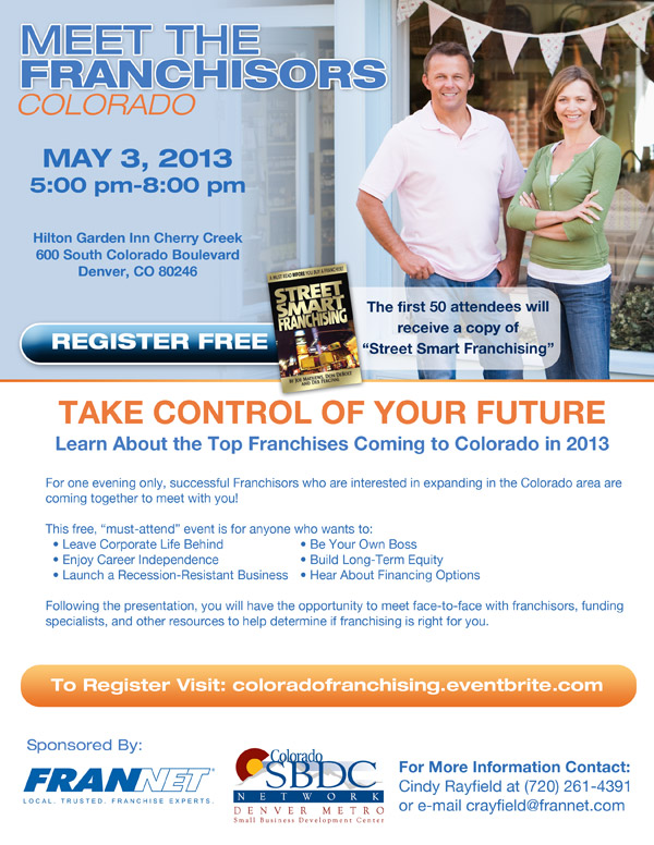 Meet the Franchisors Colorado May 3 2013