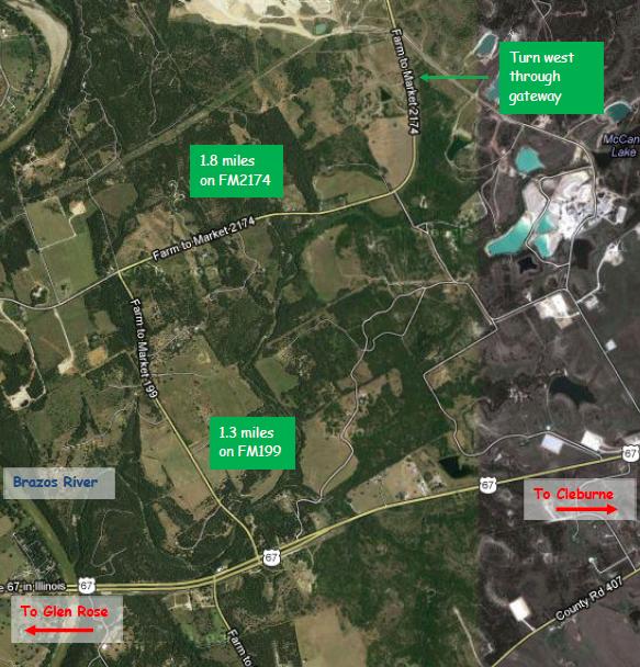 Map to Camp Uminim