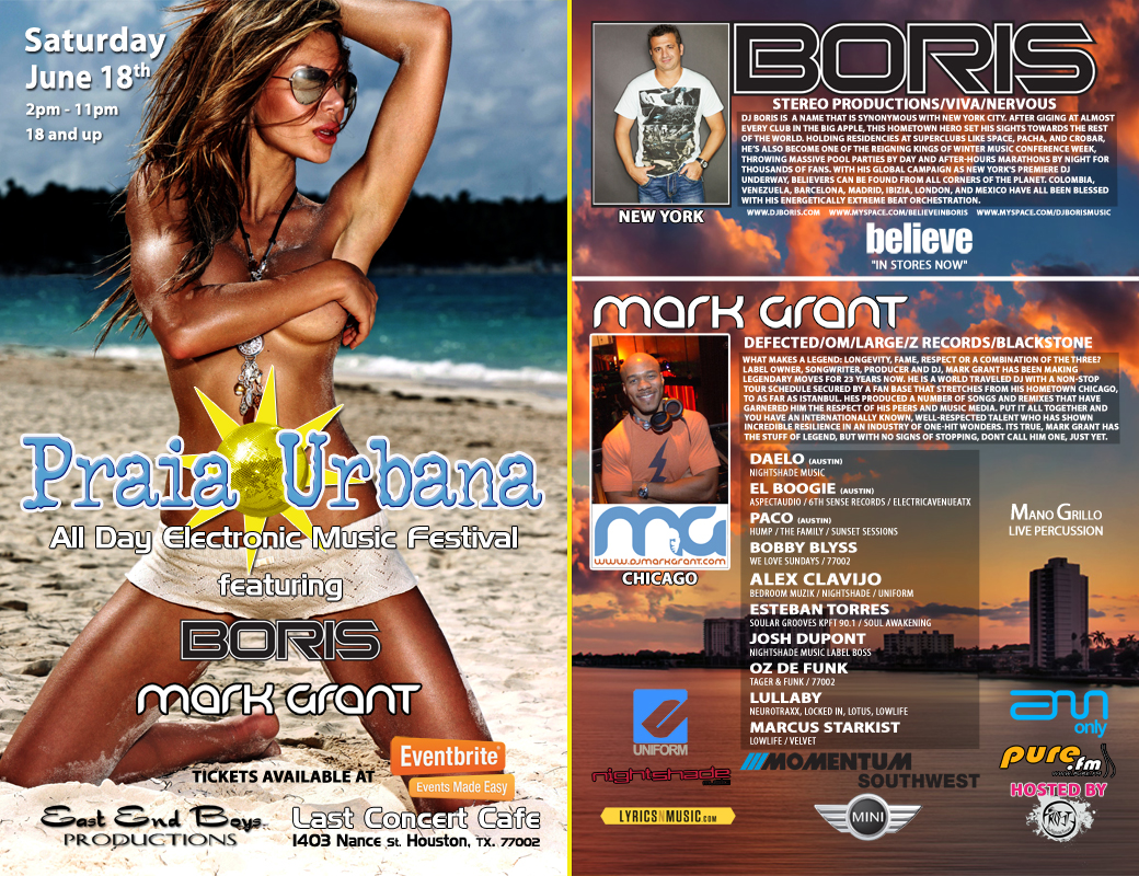 Praia Urbana Houston featuring Boris and Mark Grant